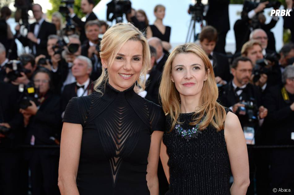 Laurence Ferrari et Elisabeth Bost sur le tapis rouge du Festival de Cannes 2014, le vendredi 16 mai