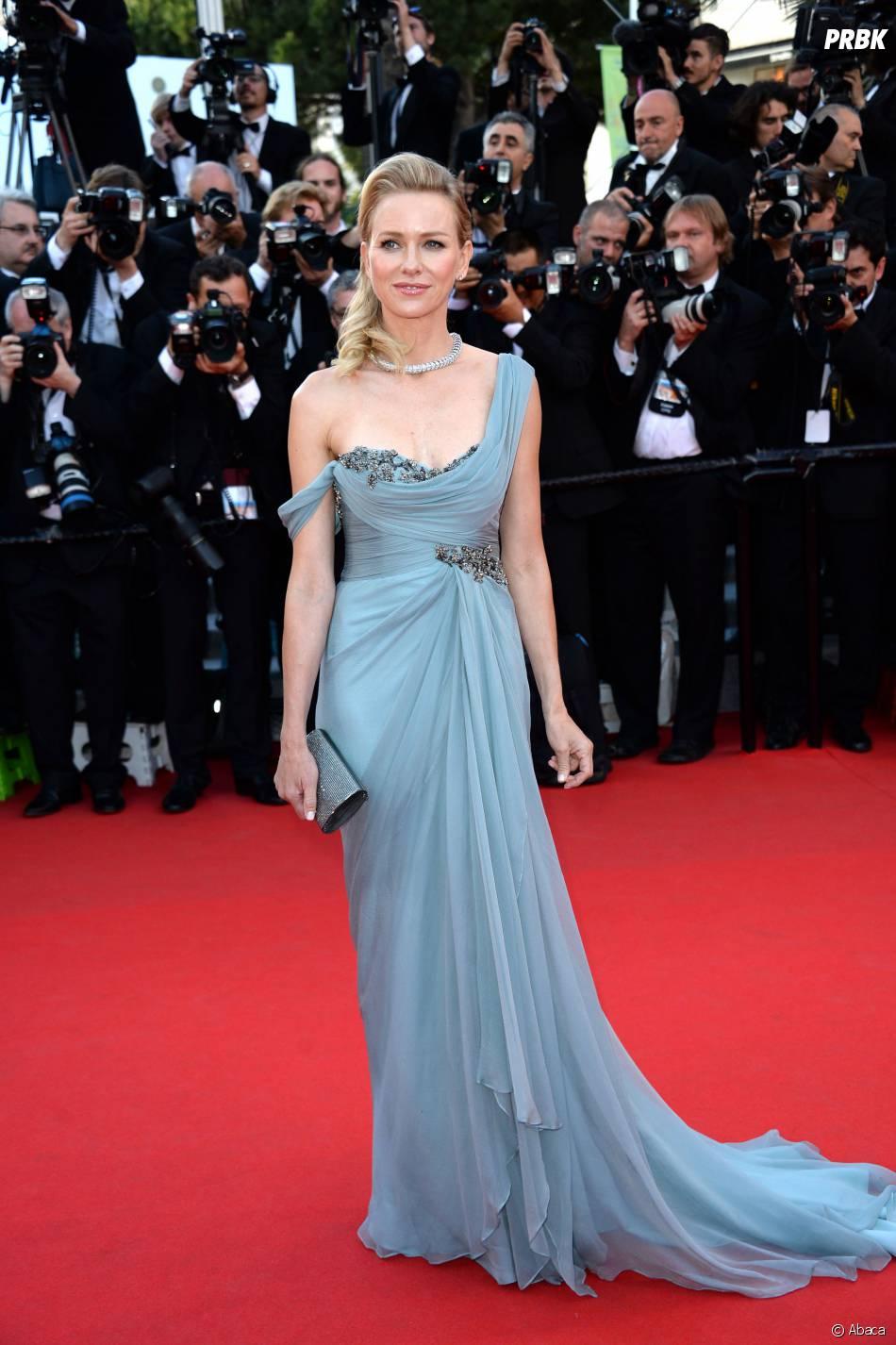 Naomi Watts sur le tapis rouge du Festival de Cannes 2014, le vendredi 16 mai