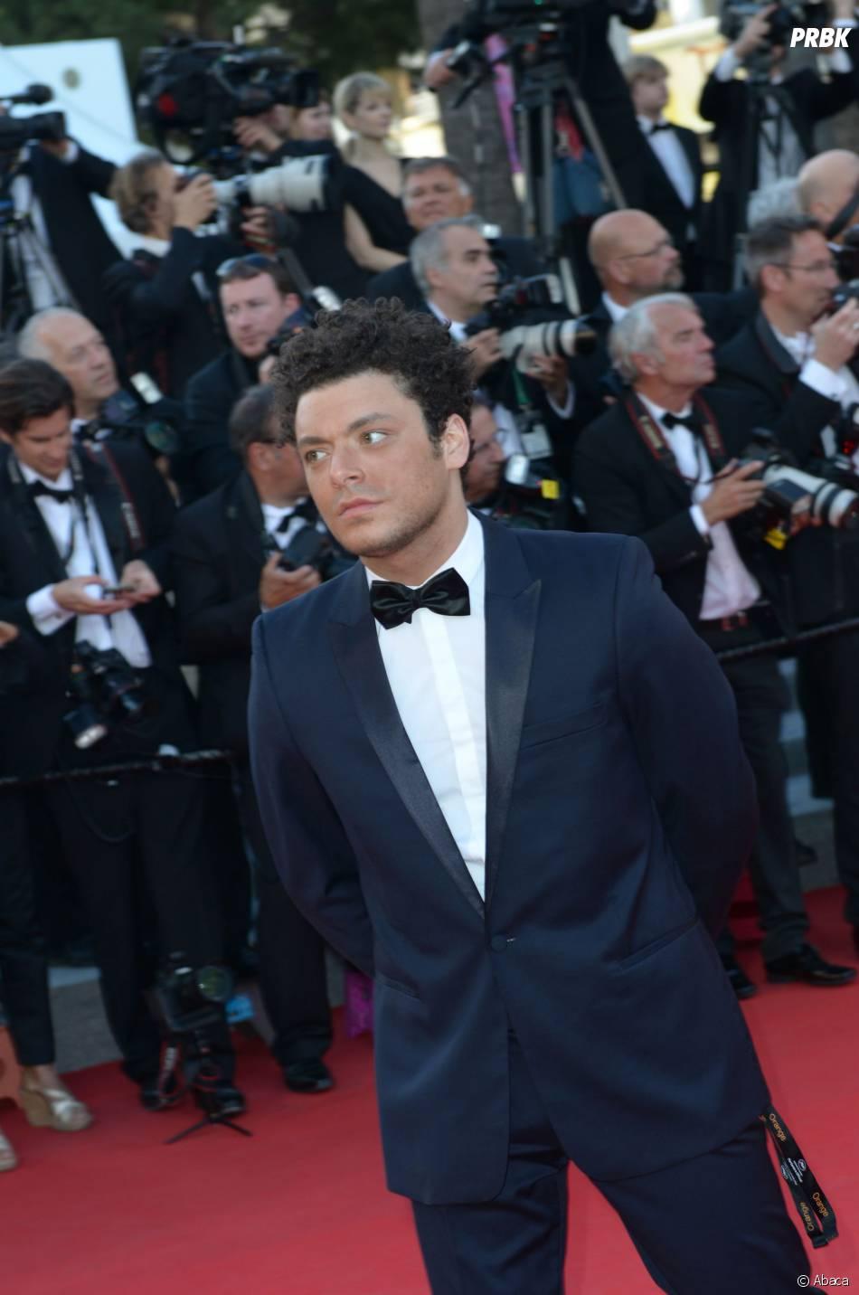 Kev Adams sur le tapis rouge du Festival de Cannes 2014, le vendredi 16 mai