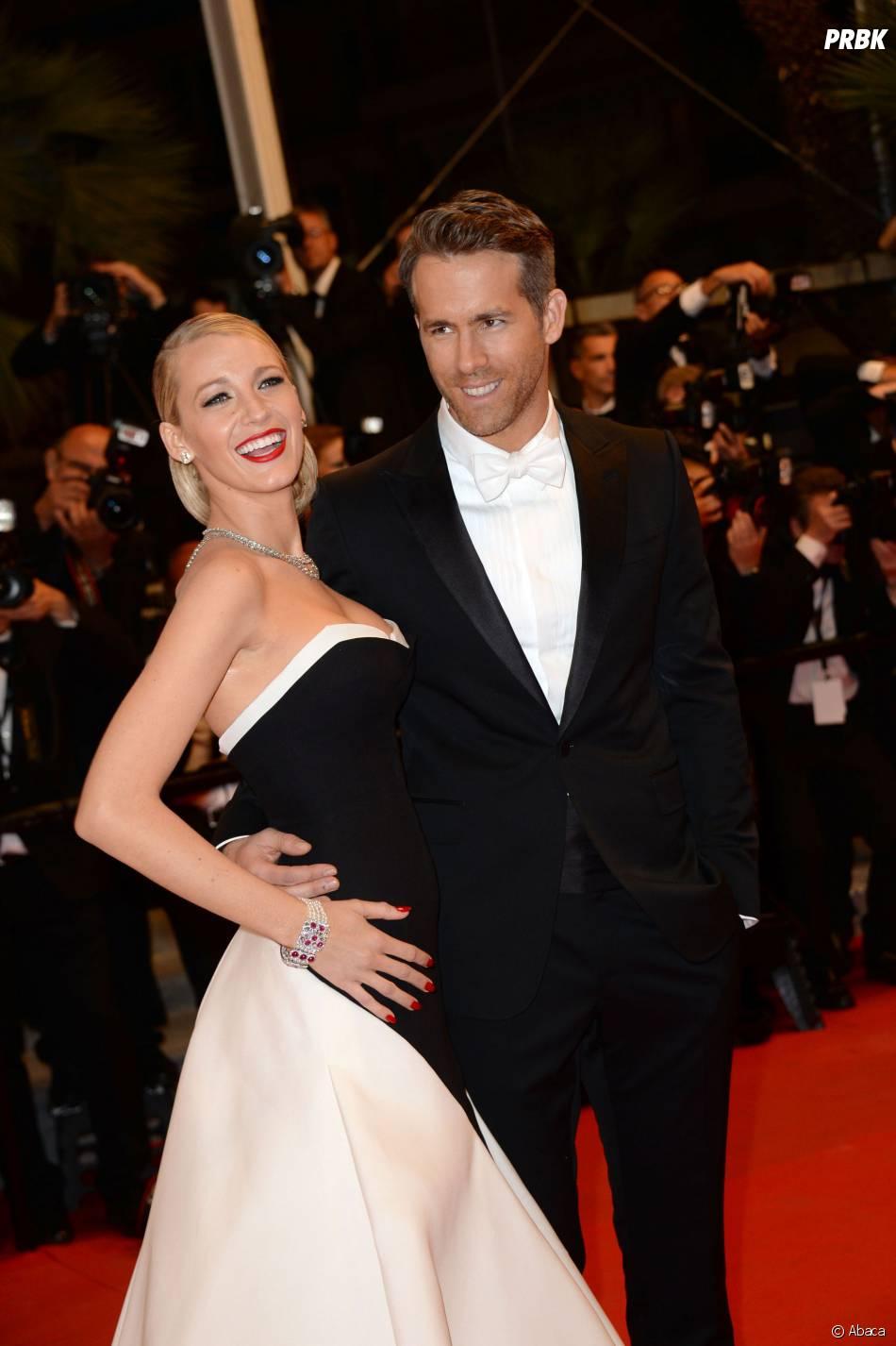 Blake Lively et Ryan Reynolds sur le tapis rouge du Festival de Cannes 2014, le vendredi 16 mai