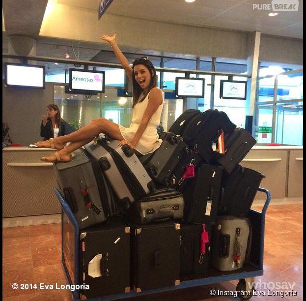 Eva Longoria à l'aéroport de Nice, le 14 mai 2014