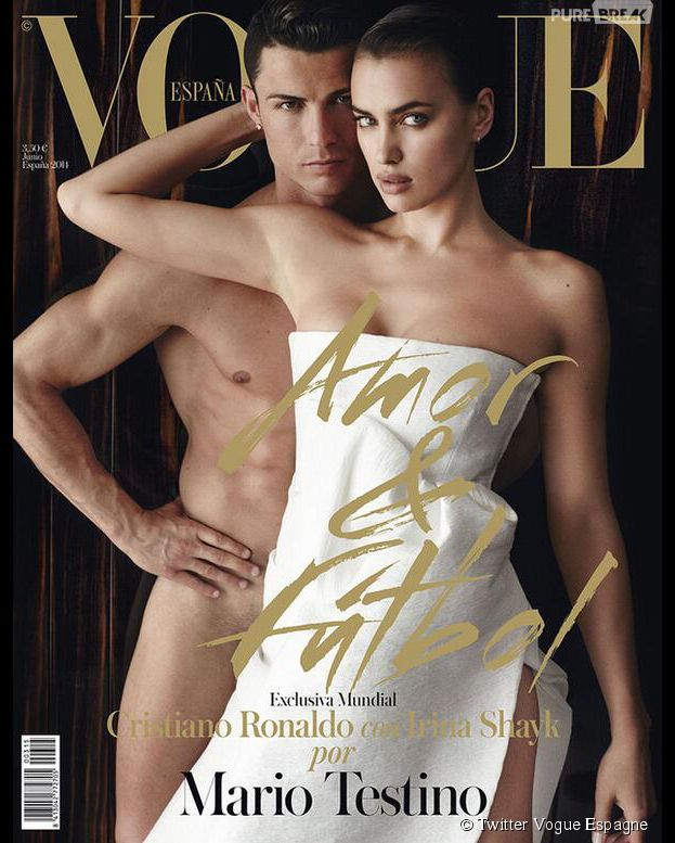 Cristiano Ronaldo nu et Irina Shayk en Une du magazine Vogue Espagne