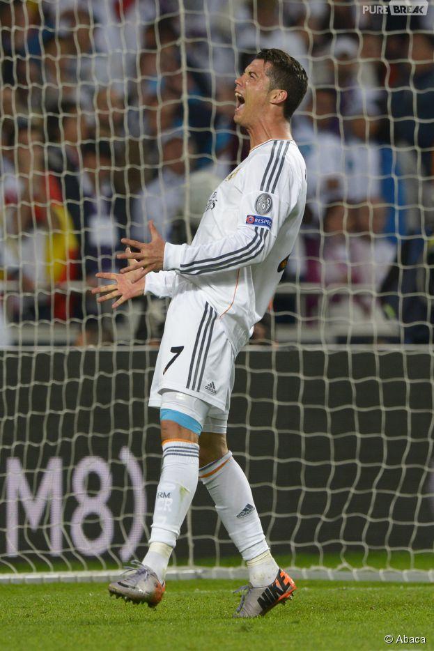 Cristiano Ronaldo, fou de bonheur après la victoire du Real Madrid en Ligue des Champions le 24 mai 2014