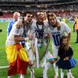 Cristiano Ronaldo fête la victoire du Real Madrid en Ligue des Champions le 24 mai 2014