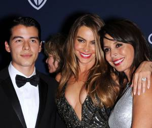 Sofia Vergara heureuse à l'after party InStyle/Warner Bros des Golden Globes 2014, le 12 janvier 2014 à Los Angeles