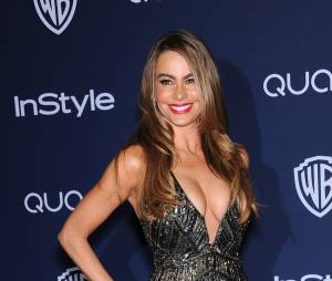 Sofia Vergara lors de l'after party InStyle/Warner Bros des Golden Globes 2014, le 12 janvier 2014 à Los Angeles