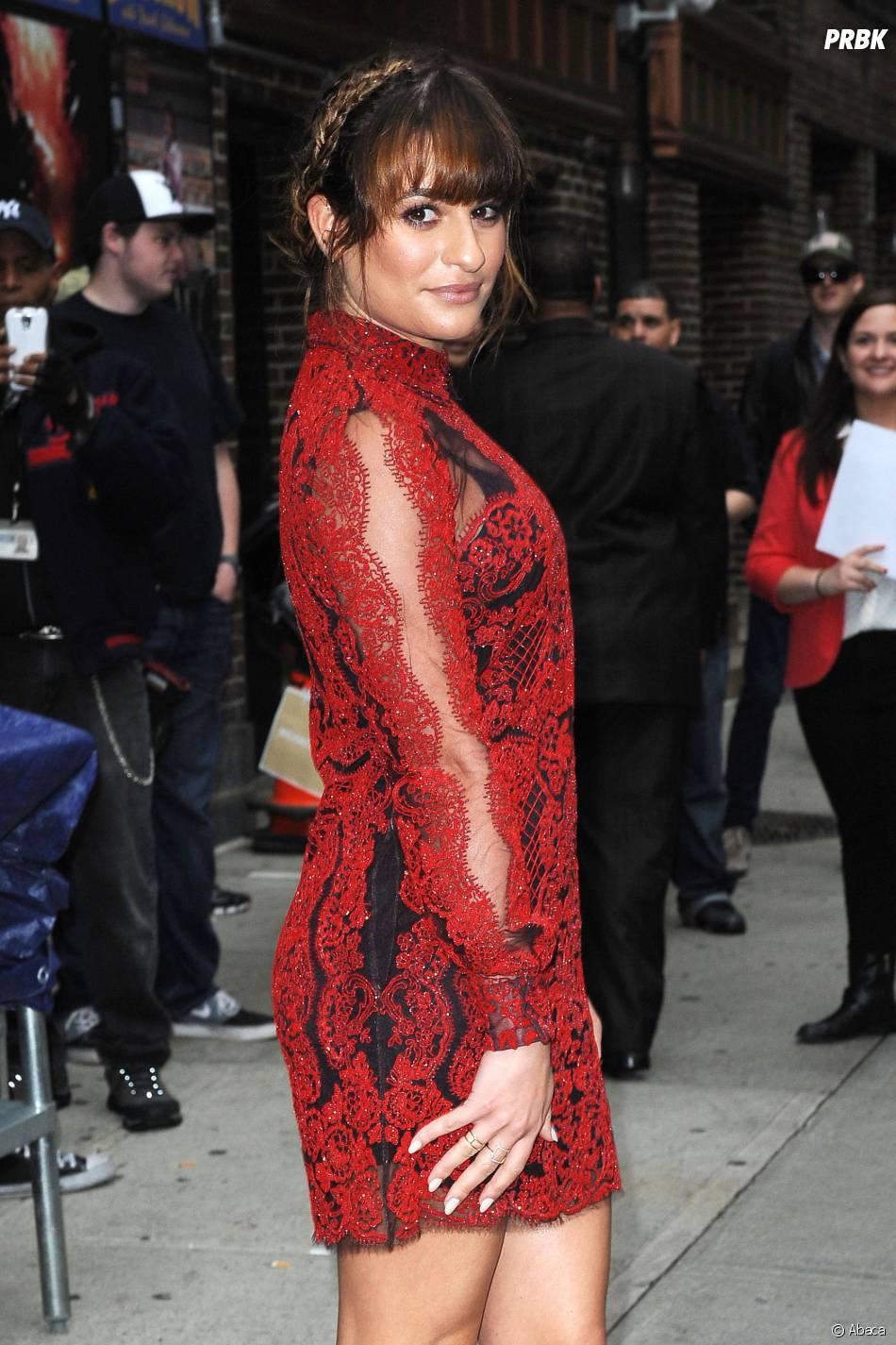 Glee : Lea Michele lors de la promotion de son livre