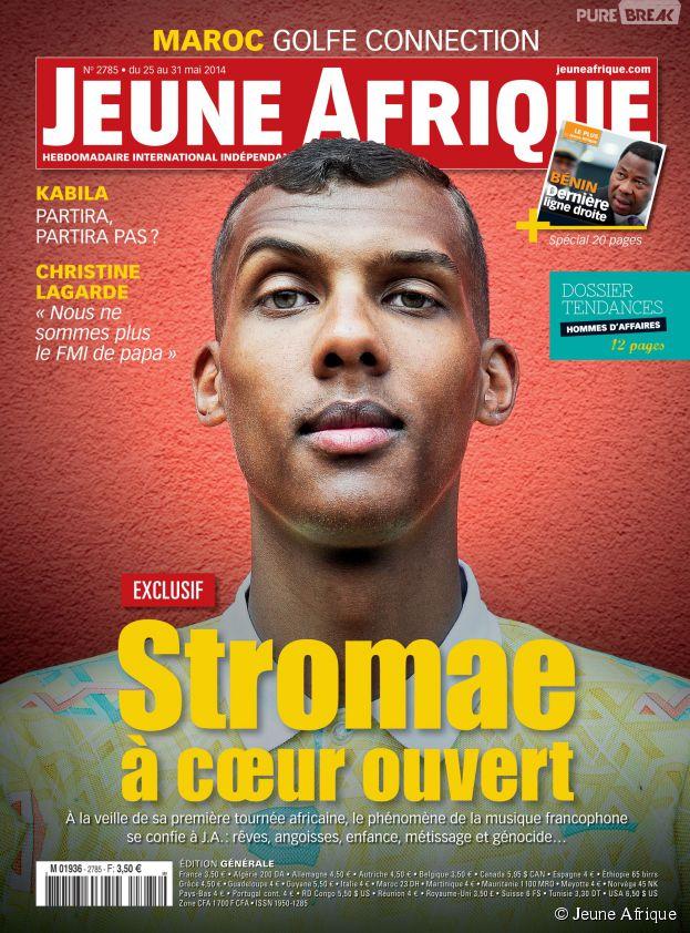 Stromae en couverture de Jeune Afrique
