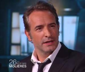 """Jean Dujardi """"viré"""" par Nicolas Bedos lors de la cérémonie des Molières, ce 2 juin 2014"""