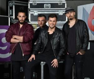 David Carreira et ses musiciens lors de l'enregistrement du concert M6 Live à Issy-Les-Moulineaux, le 14 juin 2014