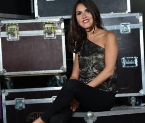 Joyce Jonathan lors de l'enregistrement du concert M6 Live à Issy-Les-Moulineaux, le 14 juin 2014