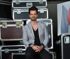 Corson lors de l'enregistrement du concert M6 Live à Issy-Les-Moulineaux, le 14 juin 2014