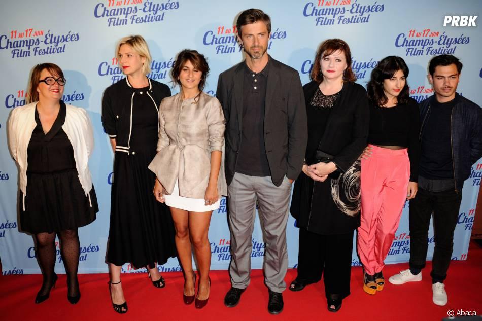 """Géraldine Nakache et l'équipe fu film """"L'ex de ma vie"""" lors de l'avant-première à Paris, le 17 juin"""
