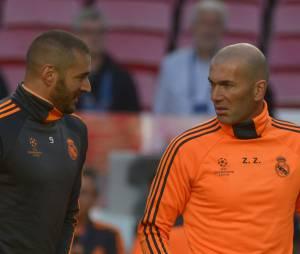 Karim Benzema et Zinédine Zidane avant la finale de la Ligue des Champions 2014