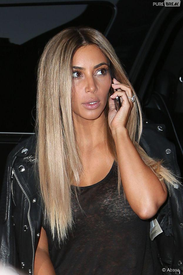 Kim Kardashian blonde dans les rues de New York, le 25 juin 2014