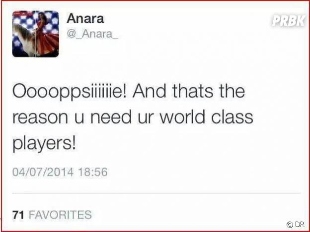 Le tweet polémique d'Anara Atanes