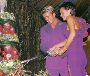 Victoria Beckham a partagé ce cliché kitch de son mariage avec son beau David