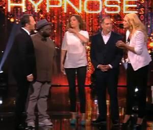 Elodie Gossuin, Sandrine Quétier et Issa Doumbia dans Stars sous hypnose, sur TF1