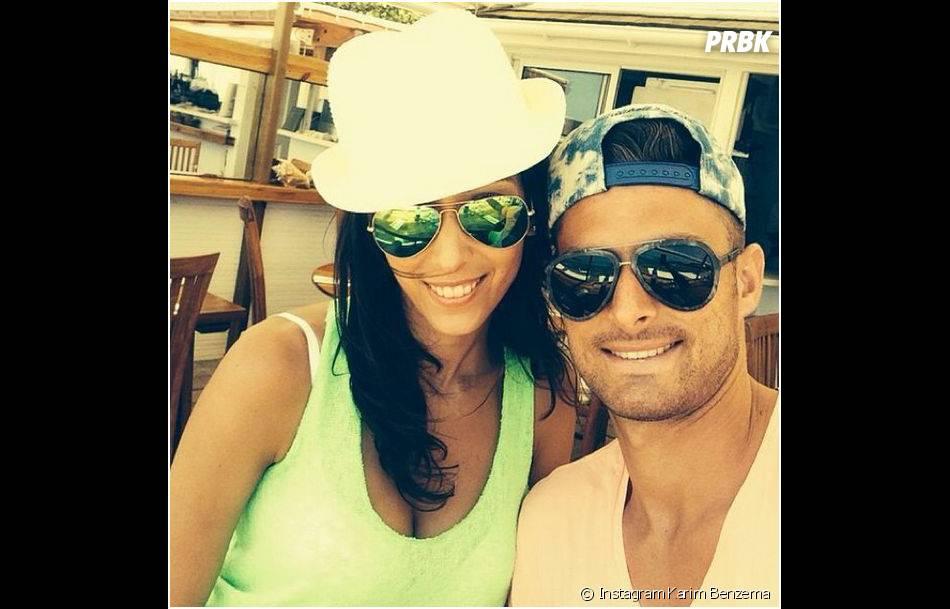 Olivier Giroud et sa femme Jennifer en vacances après la Coupe du Monde 2014