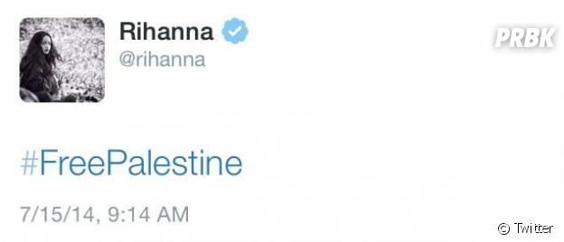 """Rihanna : un """"#FreePalestine"""" qui a provoqué de nombreuses réactions"""
