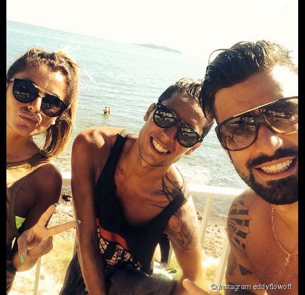 Anaïs Camizuli, Eddy et Vincent Queijo (Secret Story 7) à la plage, à Marseille