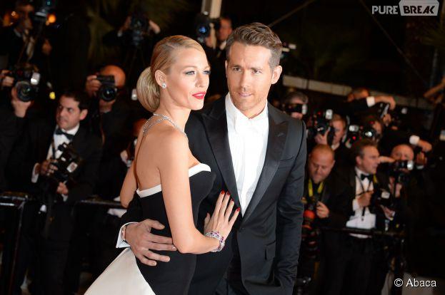 Blake Lively et Ryan Reynolds, futurs parents ? Ici en couple sur le tapis rouge du Festival de Cannes 2014, le vendredi 16 mai