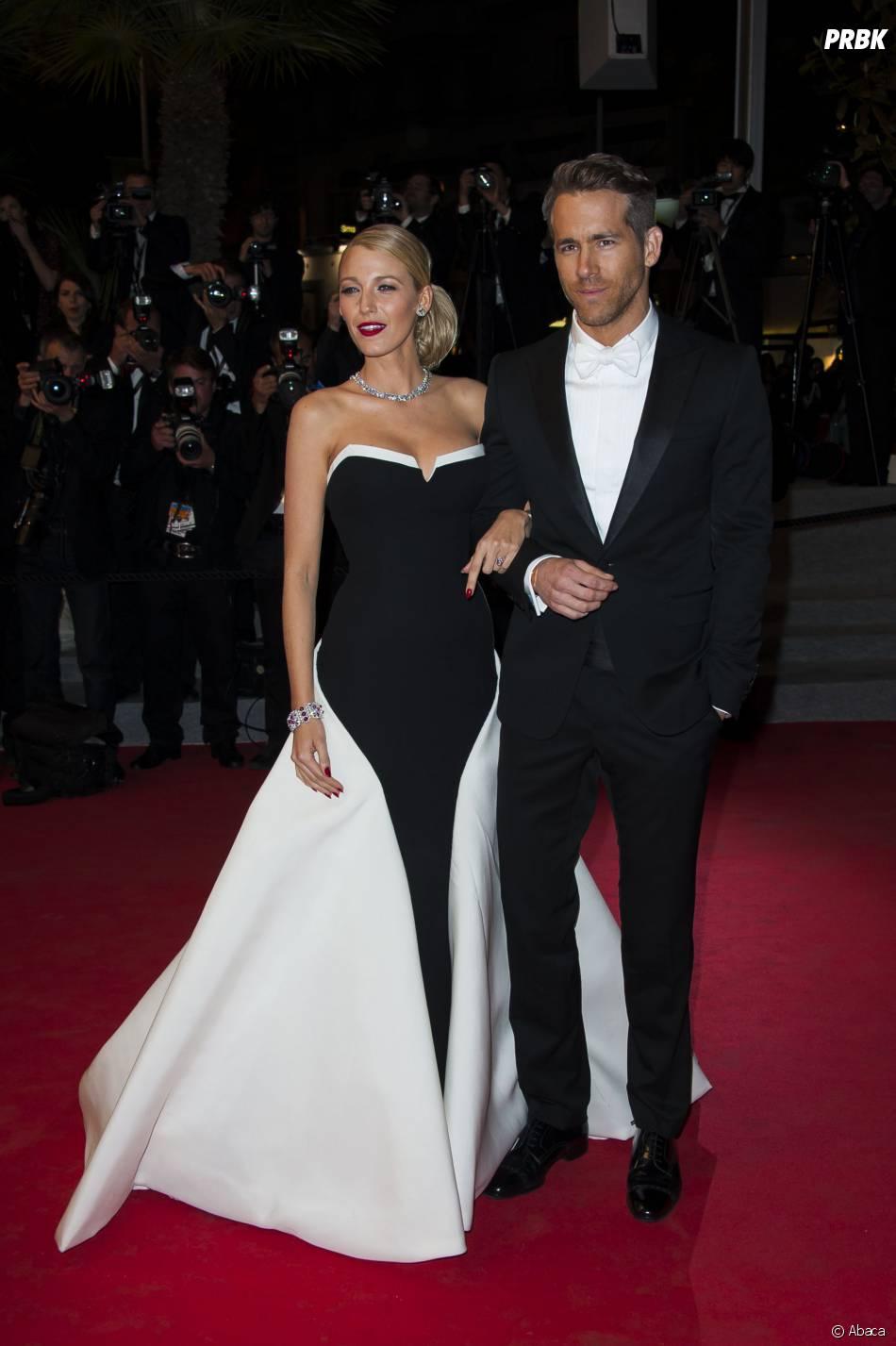 Blake Lively et Ryan Reynolds en couple sur le tapis rouge du Festival de Cannes 2014, le vendredi 16 mai