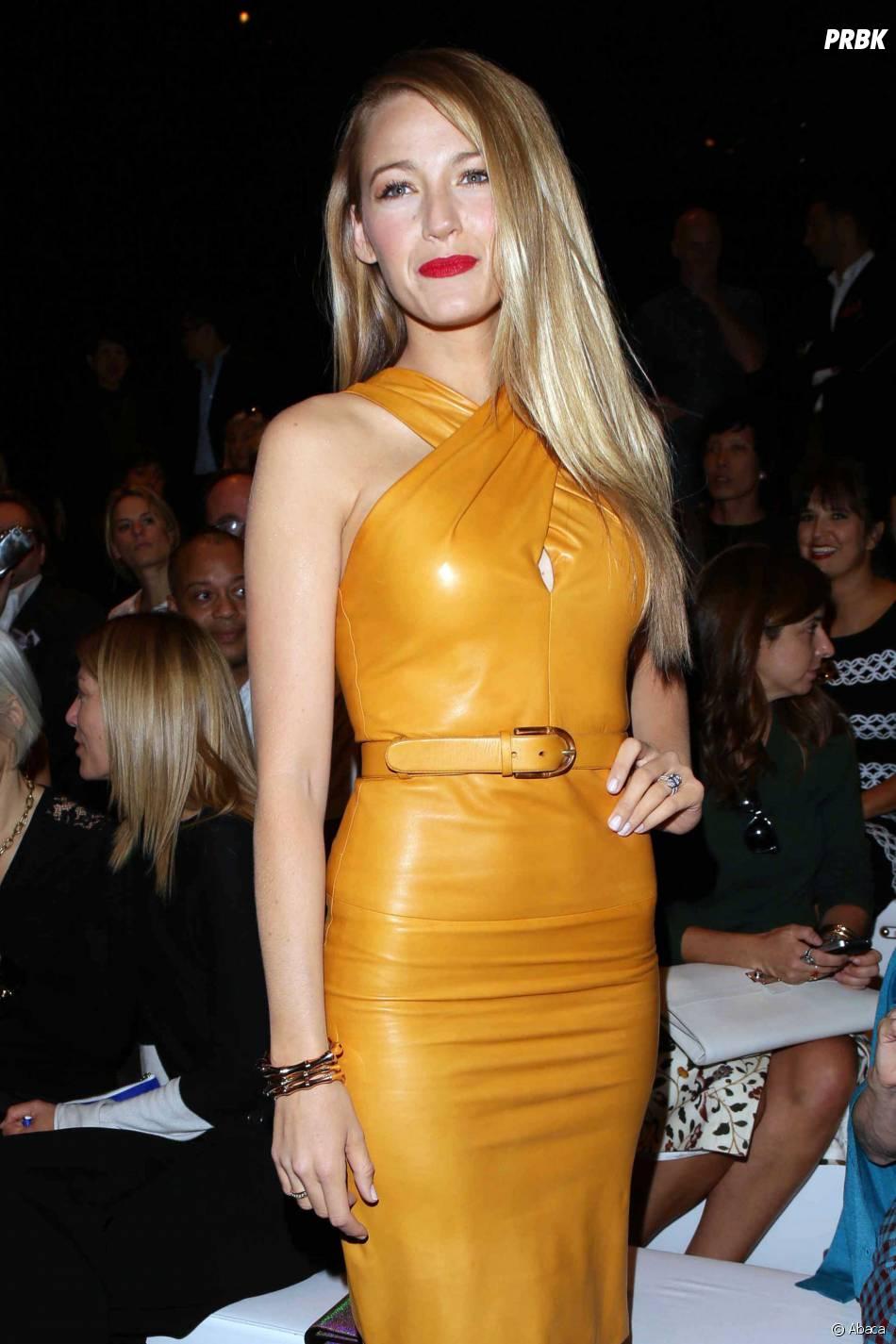 Blake Lively au défilé Gucci lors de la Fashion Week de Milan le 18 septembre 2013