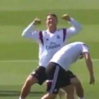 Cristiano Ronaldo se moque de James Rodriguez en plein entraînement