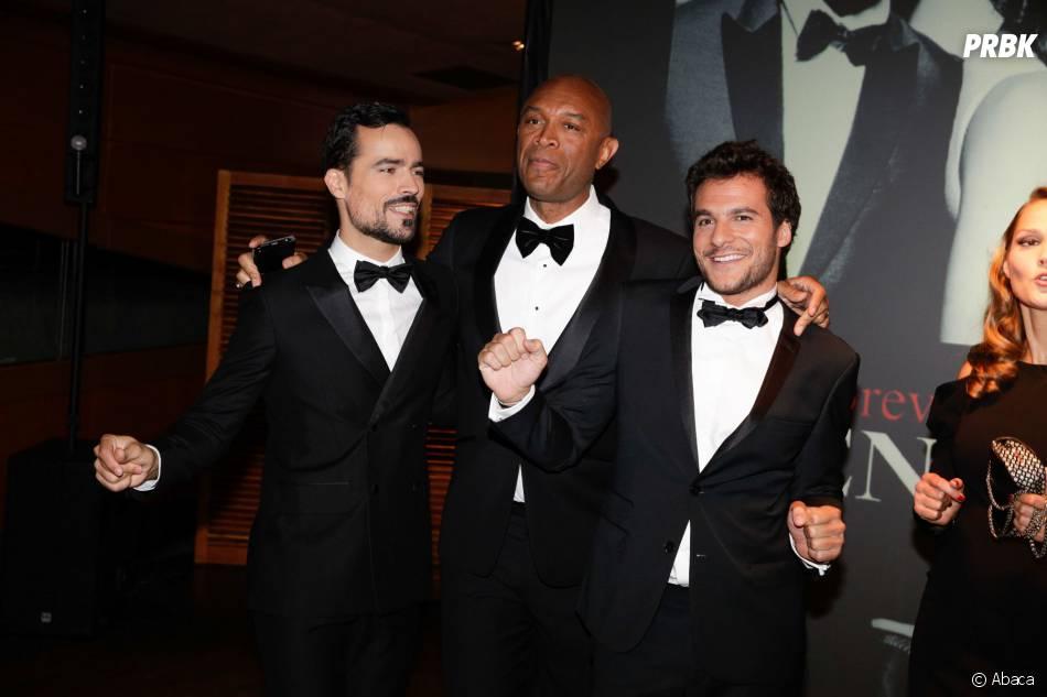 Damien Sargue, Bruce Johnson et Amir à la soirée Forever Gentlemen 2 à Paris, le 1er octobre 2014