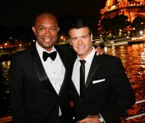 Brunce Johnson et Roch Voisine à la soirée Forever Gentlemen 2 à Paris, le 1er octobre 2014
