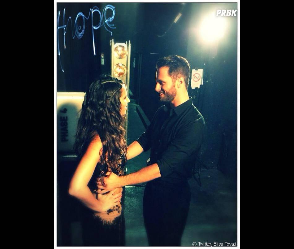 Elisa Tovati et Christian Millette pendant leurs répétitions dans Danse avec les Stars 5