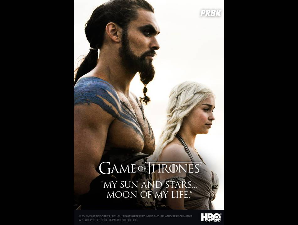 Game of Thrones : Jason Momoa et Emilia Clarke sur un poster