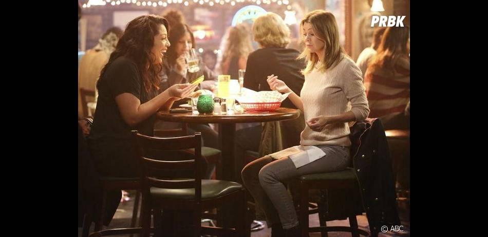 Grey's Anatomy saison 11, épisode 5 : Ellen Pompeo et Sara Ramirez sur une photo