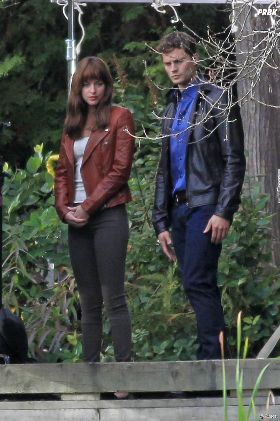 Fifty Shades of Grey : Jamie Dornan et Dakota Johnson de retour sur le tournage le 24 octobre 2014 à Vancouver