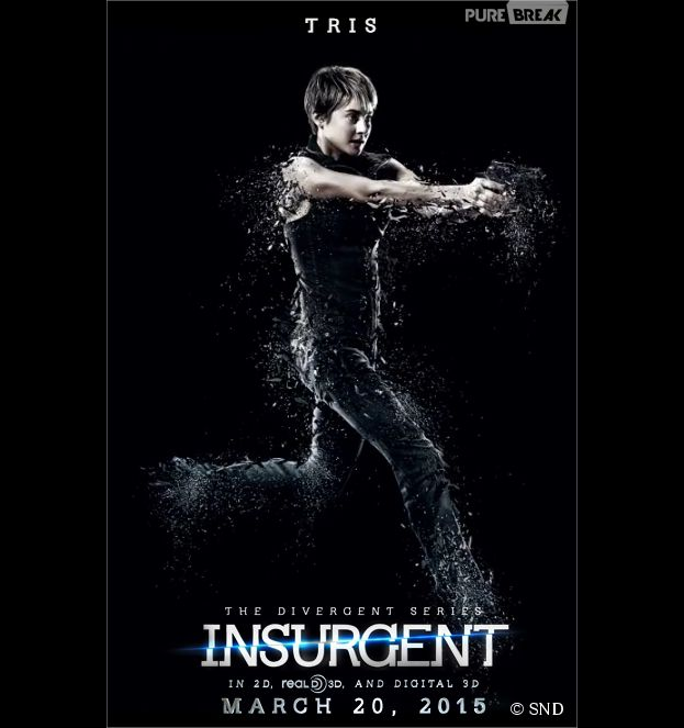 Divergente 2 : Shailene Woodley (Tris) sur une affiche
