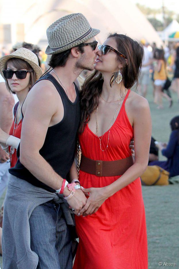 Ian Somerhalder et Nina en couple dans Vampire Diaries mais aussi dans la vie avant leur rupture