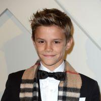 Romeo Beckham : classe et irrésistible au bras de son papa David pour Burberry