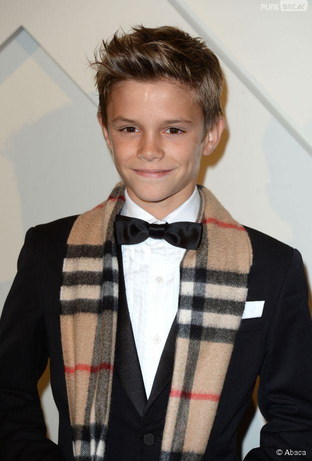 Romeo Beckham à la soirée Burberry, le 3 novembre 2014 à Londres