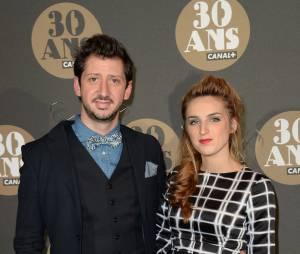 Monsieur Poulpe et Alison Wheeler pour la soirée des 30 ans de Canal+ au Palais de Tokyo, le 4 novembre 2014
