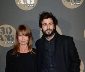 Axelle Lafont et Cyril Paglino pour la soirée des 30 ans de Canal+ au Palais de Tokyo, le 4 novembre 2014