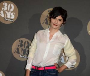 Audrey Tautou pour la soirée des 30 ans de Canal+ au Palais de Tokyo, le 4 novembre 2014