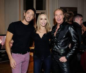 Maxime Dereymez, Tonya Kinzinger et Tony Gomez à la soirée des 25 ans du Queen, le 17 novembre 2014 à Paris
