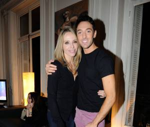 Tonya Kinzinger et Maxime Dereymez à la soirée des 25 ans du Queen, le 17 novembre 2014 à Paris
