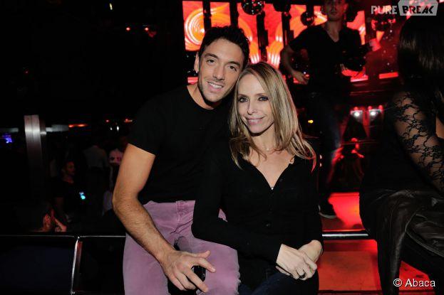 Tonya Kinzinger et Maxime Dereymez (DALS) à la soirée des 25 ans du Queen, le 17 novembre 2014 à Paris