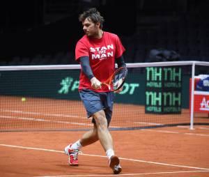 Stan Wawrinka s'entraîne avant la finale de Coupe Davis 2014