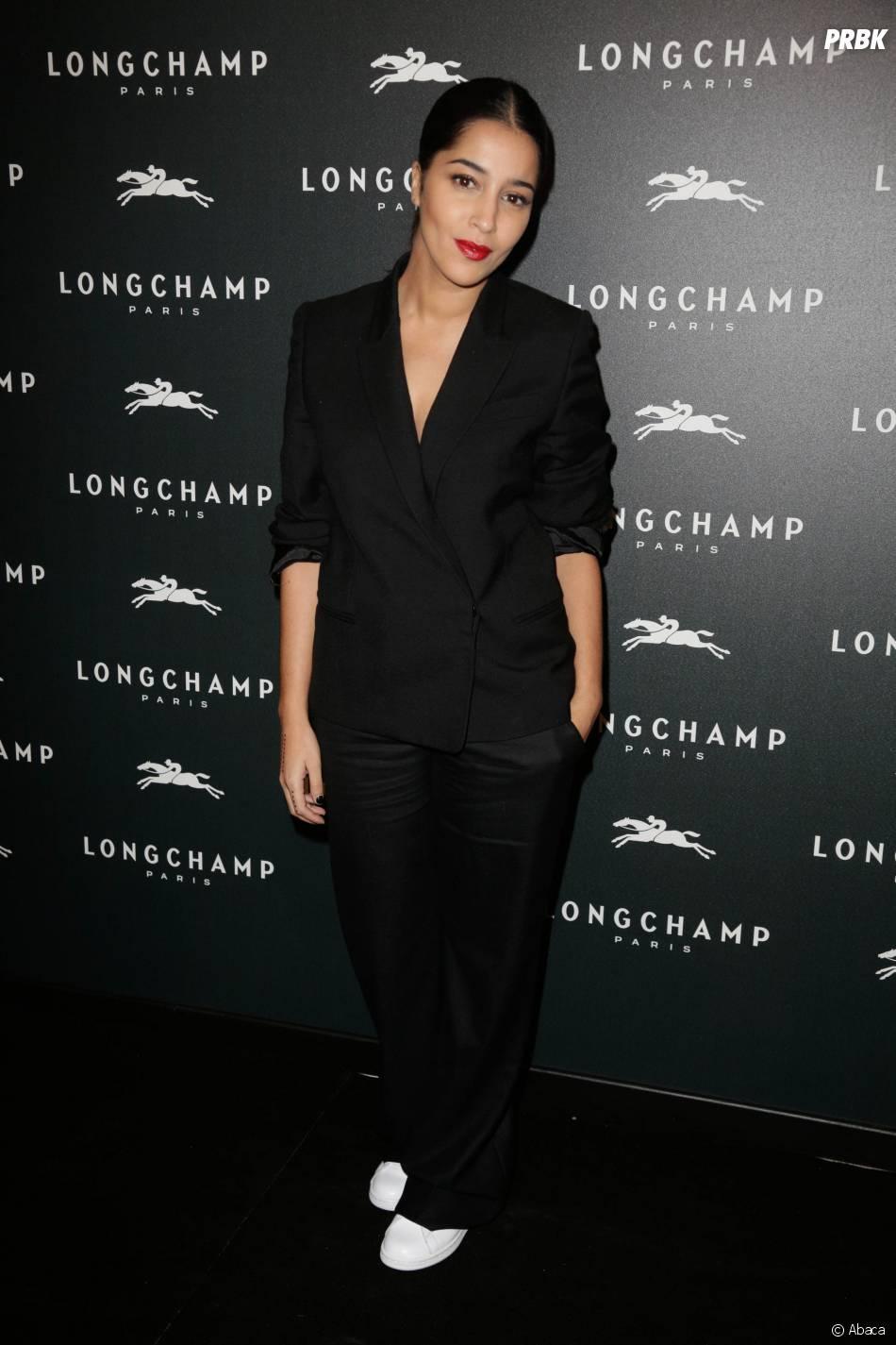 Leila Bekhti à l'ouverture de la boutique Longchamp sur les Champs Elysées à Paris, le 4 décembre 2014