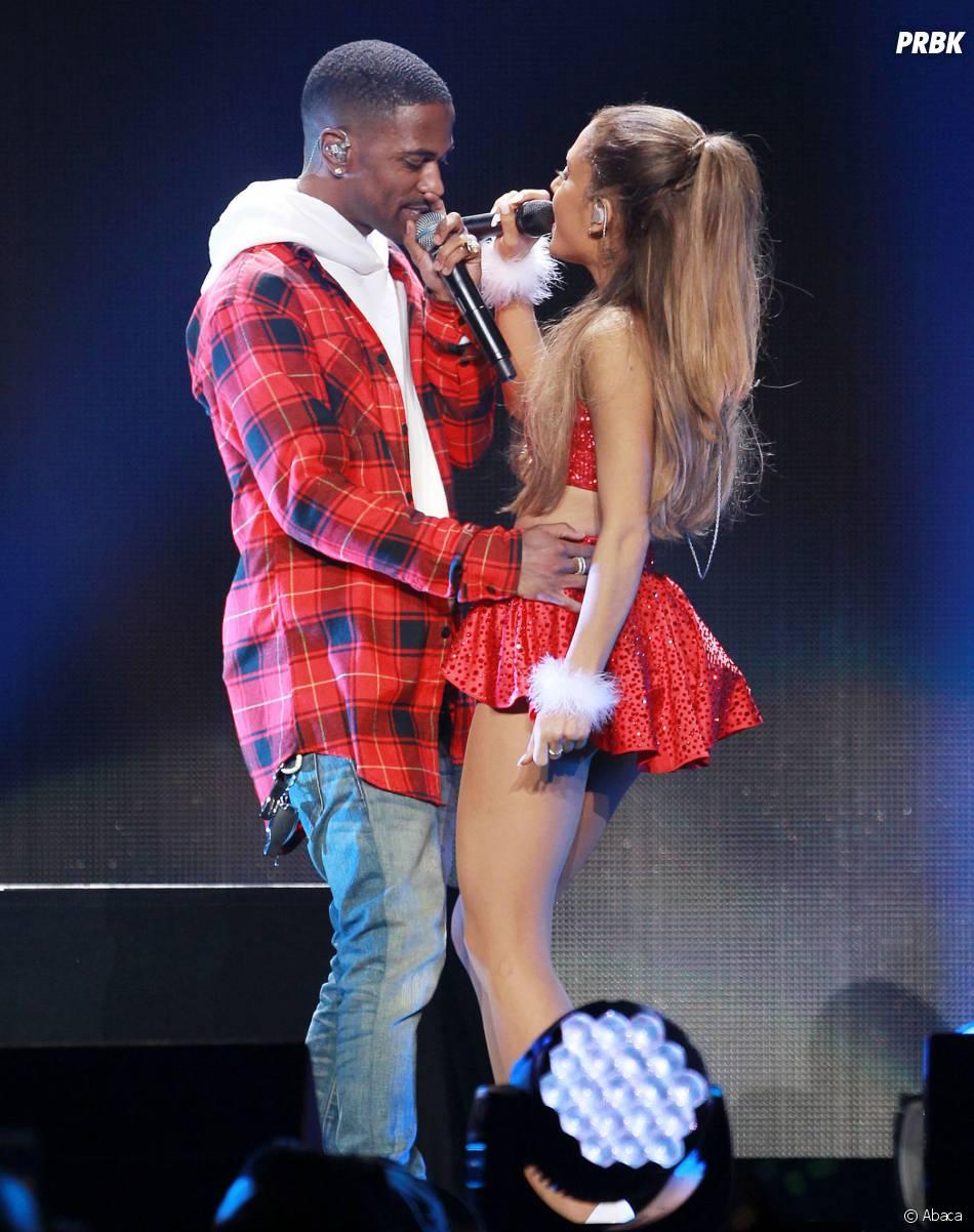 Ariana Grande et Big Sean sur la scène du Jingle Ball le 6 décembre 2014 à Los Angeles