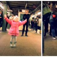 Trop cute : une petite fille se met à danser sur le quai, et tout le monde l'imite