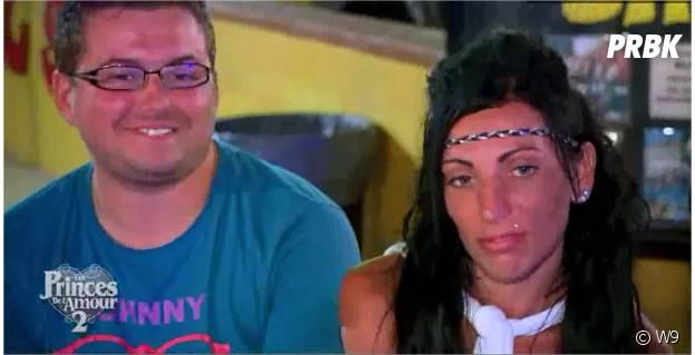 Bastien et Cindy, après leur bisou dans Les Princes de l'amour 2, épisode du 30 décembre 2014 sur W9